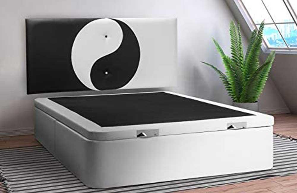 Cabecero de cama tapizado Ventadecolchones Ying Yang